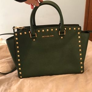 d8768dabf8a3 Women s Michael Kors Bag Green Studded on Poshmark